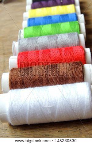 Colored Thread And Scissors