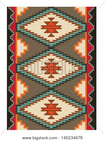 American Indians tribal pattern, Navajo tribe style