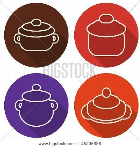 Kitchen Utensils And Cookware Line Art Design