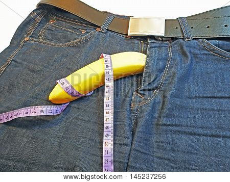Banana And Tape Measure Like The Penis