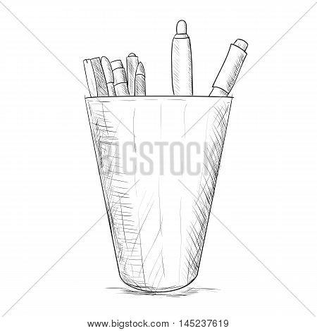 Hand Drawn Sketch Pencil Case