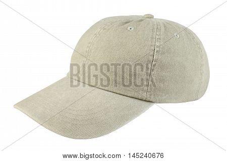 Bright baseball cap isolated on white background