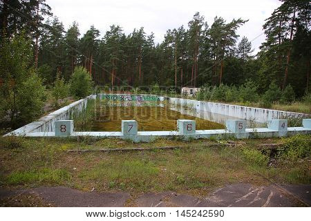 Abandoned Outdoor Swimming Pool