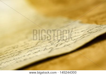 Vintage background - old handwriting letter with sepia tone