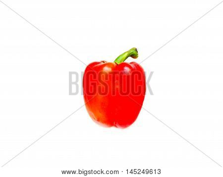 Bulgarian pepper on a white background vegetable color red taste appetite salad sweet fetus wallpaper use isolate