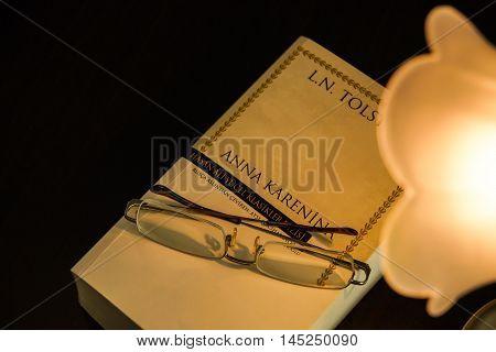 Joy of Reading. The book called Anna Karenina. Enlighten yourself.