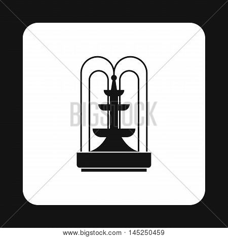 Fountain icon in simple style on a white background