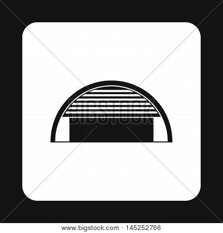 Hangar icon in simple style on a white background