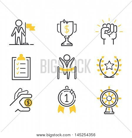 Motivations icons vector set.