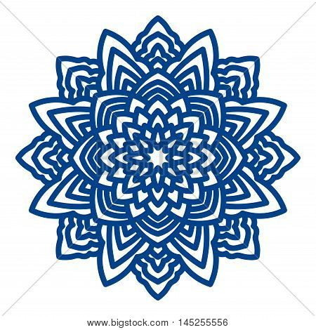 Mandala laser cutting for paper napkins coasters hot tattoo printing on apparel coloring books for adults. Medallion for a card.