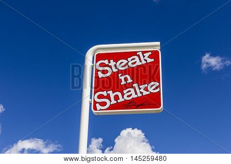 Muncie - Circa September 2016: Steak 'n Shake Retail Fast Casual Restaurant Chain. Steak 'n Shake is Located in the Midwest and Southern U.S. III