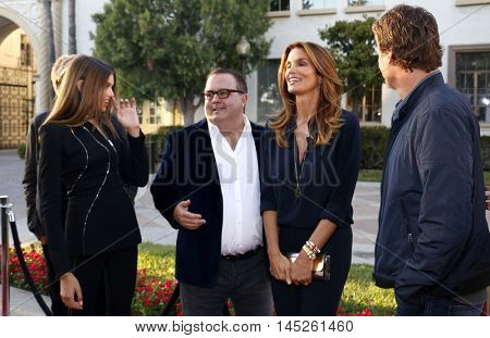 Sean Hanish, Kaia Gerber, Cindy Crawford, Rande Gerber and Presley Walker Gerber at the Los Angeles premiere of 'Sister Cities' held at the Paramount Studios in Hollywood, USA on August 31, 2016.