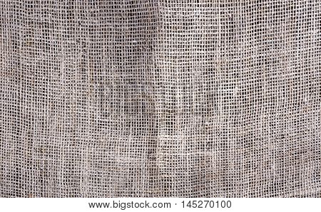 Texture and background Gunny sack, close-up view