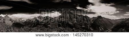 Switzerland Alpine Panorama. Mountain Massif Landscape.