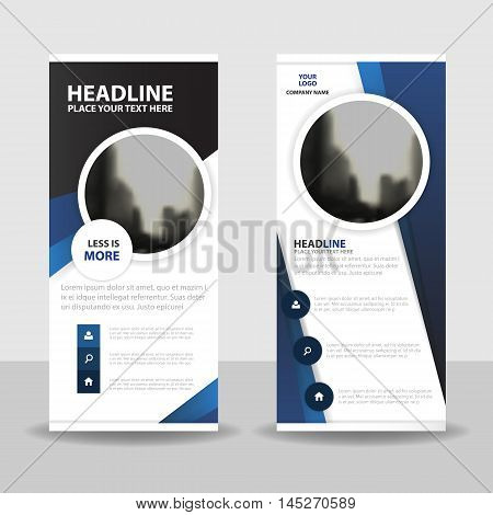 Purple circle roll up business brochure flyer banner design cover presentation abstract geometric background modern publication x-banner and flag-banner layout in rectangle size.