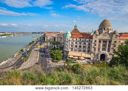 Budapest city skyline and Danube river, Hungary