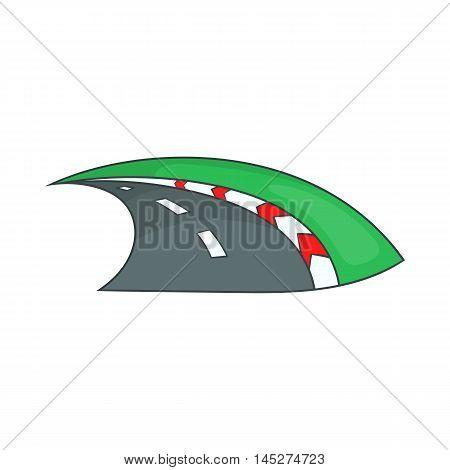 Speedway icon in cartoon style isolated on white background. Track symbol