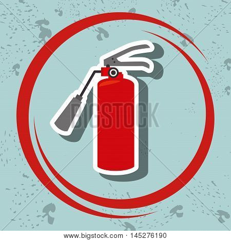extiguisher fire spray vector illustration graphic eps 10