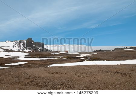 Landscape, snow mountain, and glacier at Antarctica