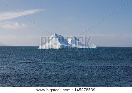Ieberg and coastal seascape in the summer season at Antarctica