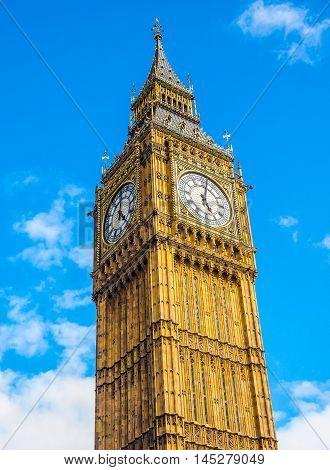 Big Ben In London Hdr