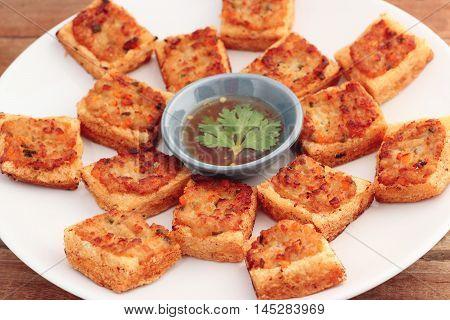 Minced Pork Toast