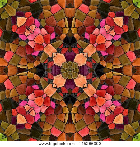 Abstract decorative multicolor mosaic texture - kaleidoscopic pattern