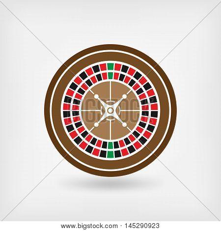 European roulette wheel. casino symbol. vector illustration - eps 10