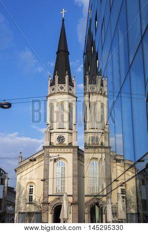 Church in Linz. Linz Upper Austria Austria.