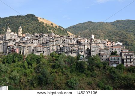 A view of Piglio the wine country in Lazio - Italy