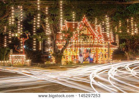 HUA HIN, THAILAND - DECEMBER 13, 2014 : Hua Hin Railway station is a major tourist attraction of Hua Hin Prachuap Khiri Khan on December 13, 2014.