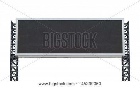 Large-long scoreboard stadium isolated on white background. use clipping path