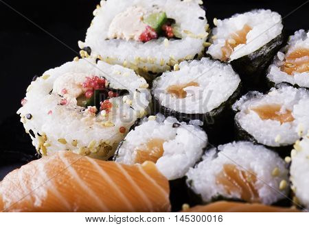 Sushi In Close Up