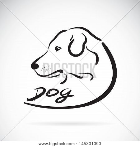 Vector of a dog head logo on white background. Dog labrador Icon
