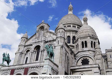 The famous Sacre-Coeur basilica in Paris France