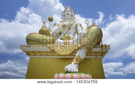 The Biggest Brahma, The Hindu God Of Creation, Is Located At Samanrattanaram Temple. Chacherngsao, T
