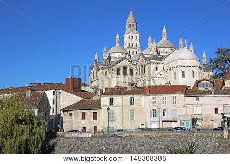 St Front Cathedral in Perigueux town, France