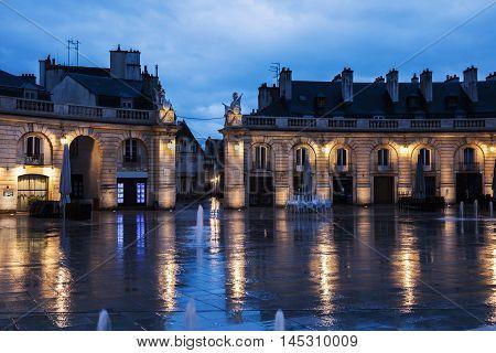 Liberation Square in Dijon. Dijon Burgundy France