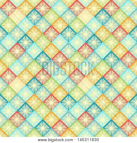 rhombus seamless pattern. bright colors geometric tiles with rhombus. vector illustration - eps 8