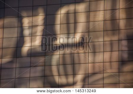 Abstract reflections on the wall like background