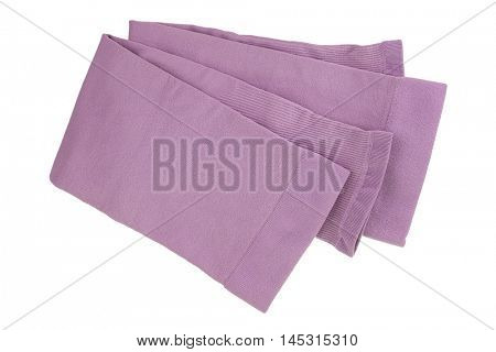 Folded fingerless sleeve in pink to cover and protect arm from over exposure of harmful sun, UV ray while doing outdoor activities, isolated on white background