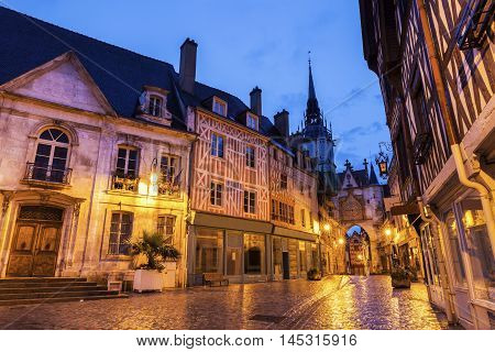 Auxerre City Hall and Clock Tower. Auxerre Burgundy France