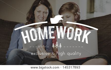 E-learning Guide Guidance Educate Homework Concept