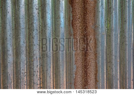 Old rusty galvanized iron sheets and dirty. Background