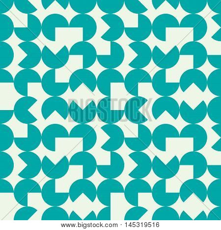 Vector endless pattern composed with geometric shapes. Graphic tile with ornamental texture can be used in textile and design.