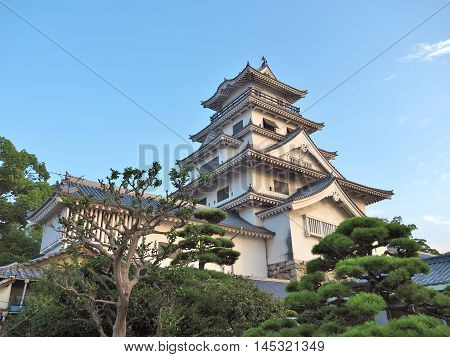Imabari Castle is a Japanese castle in Imabari, Ehime Prefecture, Japan. This castle is well known as one of the three water castles in Japan.