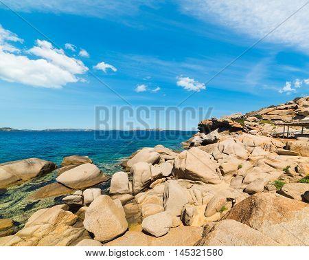 big rocks in Costa Smeralda in Italy