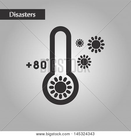 black and white style nature thermometer hot weather