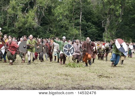 Attacking Vikings At Moesgaard