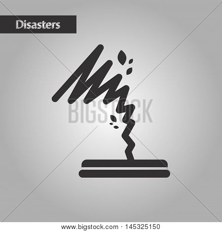 black and white style nature disaster tornado